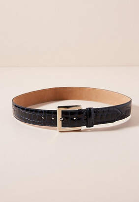 Streets Ahead Crocodile-Embossed Leather Belt