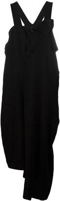 Yohji Yamamoto asymmetric draped jumpsuit $2,546 thestylecure.com