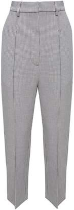 MM6 MAISON MARGIELA Checked Stretch-jersey Cropped Trousers