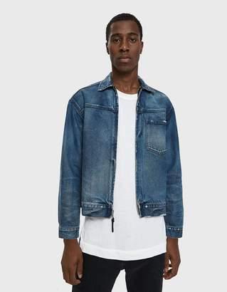 John Elliott Denim Zip Jacket in Indigo