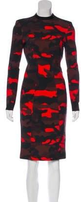 L.A.M.B. Camo Print Knee-Length Dress