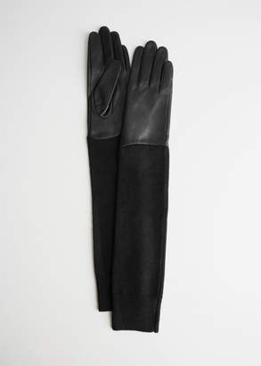 And other stories Long Knitted Leather Gloves