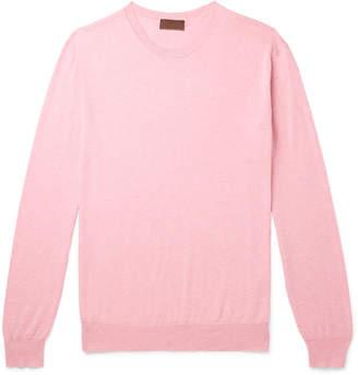 Altea Melange Cotton and Cashmere-Blend Sweater - Men - Pink