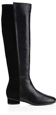 Stuart Weitzman Women's Eloise Leather& Suede Knee-High Boots