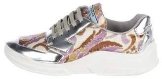 Prada Brocade Low-Top Sneakers