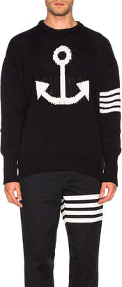 Thom Browne Anchor Icon Pullover in Navy | FWRD