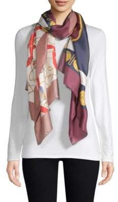 Burberry Medal Collage Silk Scarf