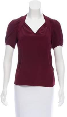 Derek Lam Silk Short Sleeve Top