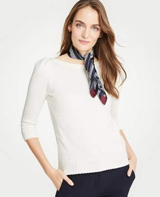 Ann Taylor Houndstooth Silk Little Scarf
