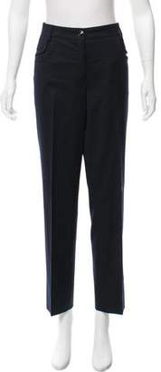 Chanel Wool Straight-Leg Pants