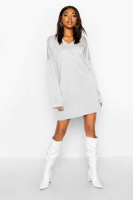 boohoo Tall Raw Edge Sweat Dress