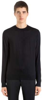 Prada Virgin Wool Crewneck Sweater