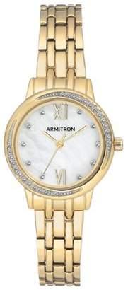 Armitron Ladies Dress Gold Bracelet Round Watch