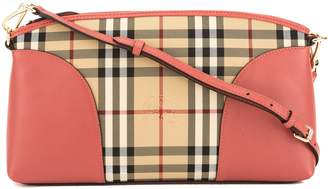 5a780af2f176 Burberry Pink Leather and Horseferry Check Chichester Crossbody Bag  (3647001)