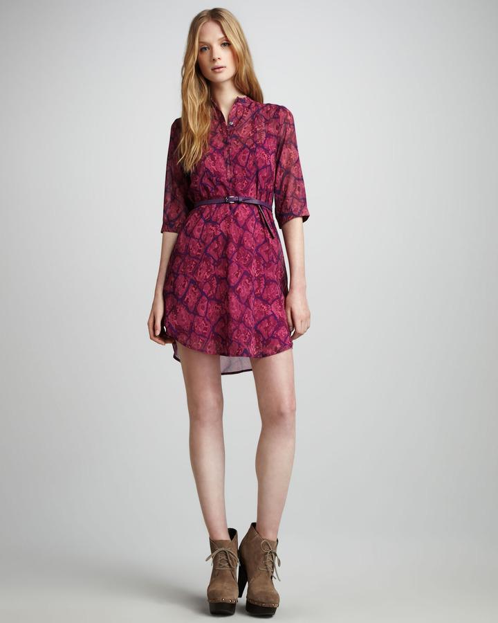 Patterson J. Kincaid Nickie Python-Print Dress