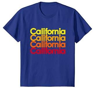 Colorful California Sunset Vacation Novelty T-Shirt