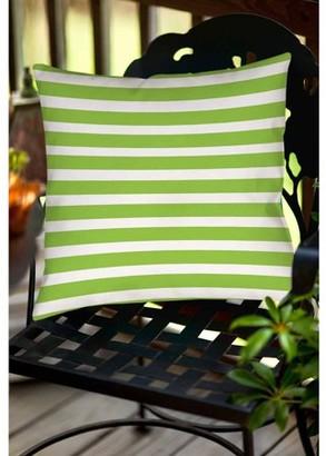 Thumbprintz Bright Stripes Kiwi Indoor/Outdoor Pillow