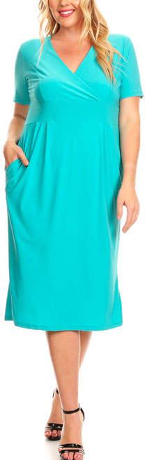 Jade V-Neck Empire-Waist Dress - Plus