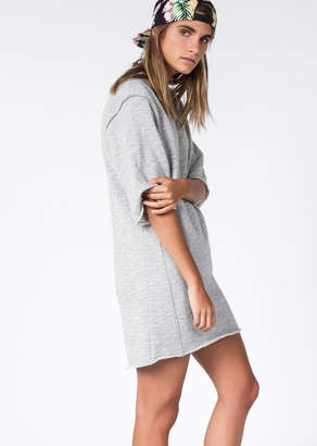 WildFang The Fifth Grey Marle Liberty Dress | Liberty Sweatshirt Dress - GREY MARLE - XSMALL