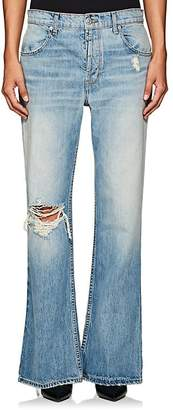 ADAPTATION Women's Distressed Flared Jeans