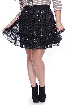 Faith21 Tiered Sequin Skirt