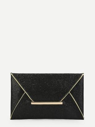 Shein Glitter Envelope Clutch Bag