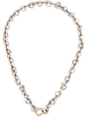 Tiffany & Co. Two-Tone Heart Link Necklace