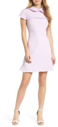 Gal Meets Glam Emma Ruffle Crepe Dress
