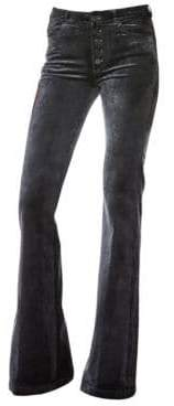 Paige Genevieve Velvet Flare Trousers