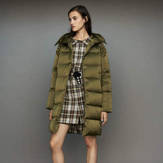 Maje Long down jacket with hood