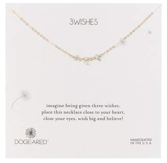 Dogeared 14K Gold Vermeil Triple Teeny Kesh Pearl Necklace
