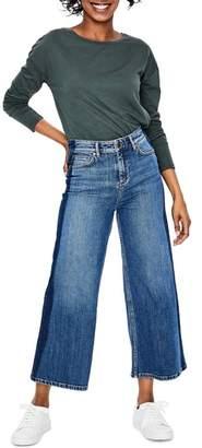 Boden York Side Stripe Cropped Jeans