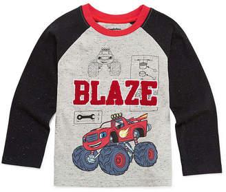 Blaze Long Sleeve Crew Neck T-Shirt-Toddler Boys