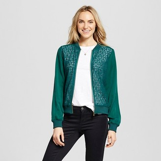 Merona Women's Lace Bomber Jacket $29.99 thestylecure.com