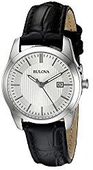 Bulova Women's 96M129 Analog Display Quartz Black Watch $175 thestylecure.com