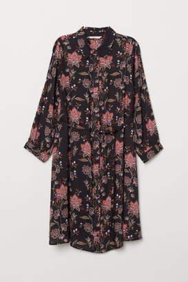 H&M MAMA Shirt Dress - Black