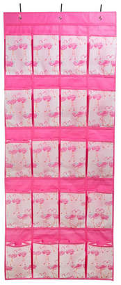 Laura Ashley Over The Door 16 Pocket Shoe Organizer in Pretty Flamingo