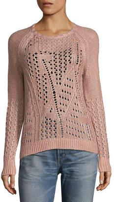 Leo & Sage Leo + Sage Open Stitch Raglan Sweater