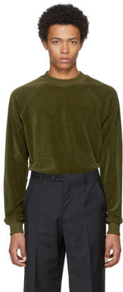 Maison Margiela Green Chenille Sweater