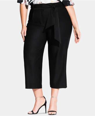 City Chic Plus Size Tie-Waist Culotte Pants