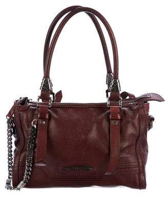 Burberry Small Leather Pilgrim Satchel