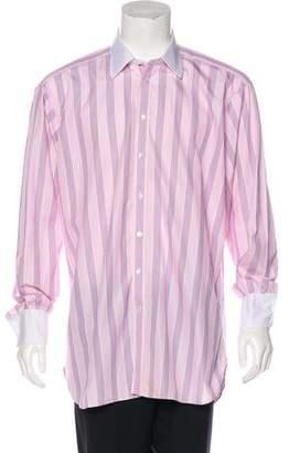 Turnbull & Asser Striped Button-Up Shirt