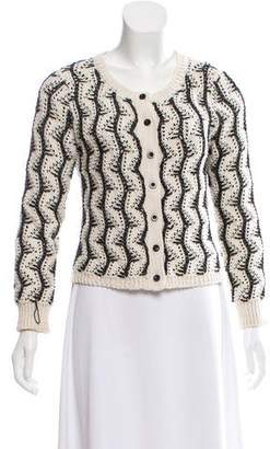 Alice + Olivia Textured Knit Cardigan