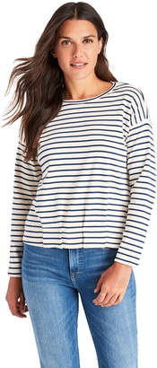 Vineyard Vines Striped Gathered Hem Top