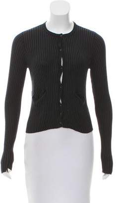 A.L.C. Silk Button-Up Cardigan