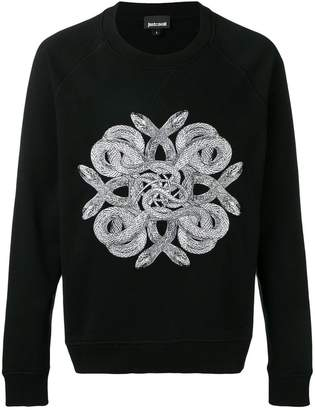 Just Cavalli snake print jumper