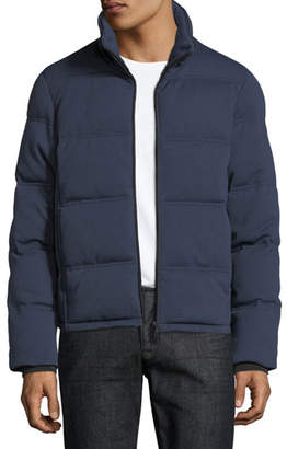 Emporio Armani Men's Quilted Yarn-Dyed Puffer Jacket