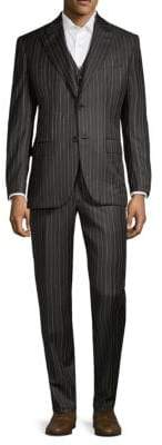 Brioni Three-Piece Wool Mohair Suit