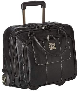 Kenneth Cole Reaction Pebbeled Vinyl Double Gusset Top-Zip Wheeled Computer Case Computer Bags