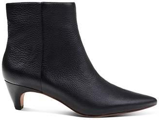 Splendid Women's Nettie Pointed Toe Leather Kitten Heel Booties